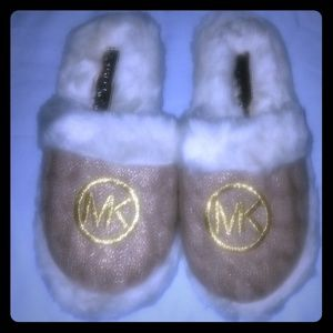 Michael Kors Fuzzy Slippers